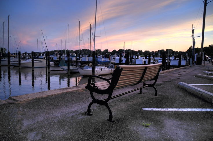 Sittin' on the dock of the (Chesapeake) bay.  Photo by Forgotten Havre de Grace.