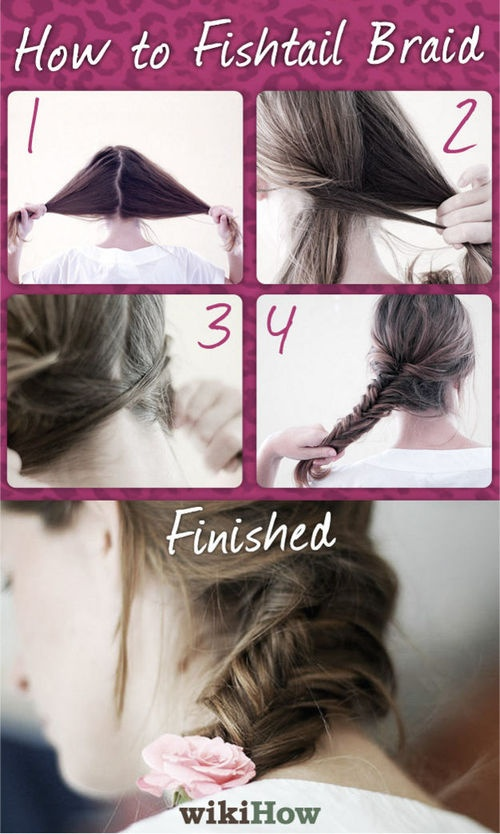 how to fish tail braid - photo #17