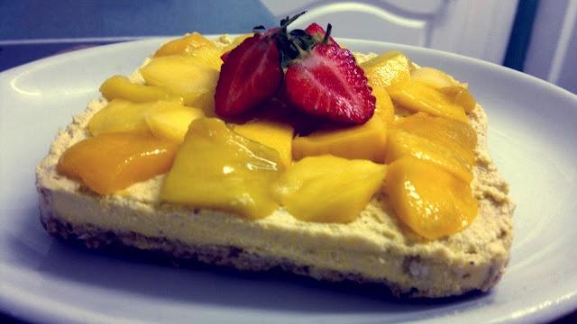Raw Mango Cheesecake - Dairy-free, sugar-free, gluten-free!