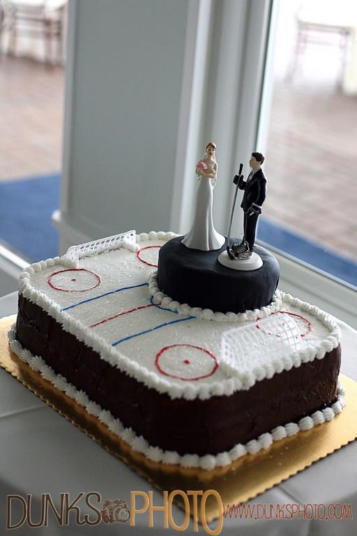 Ice Hockey Wedding Cake Topper
