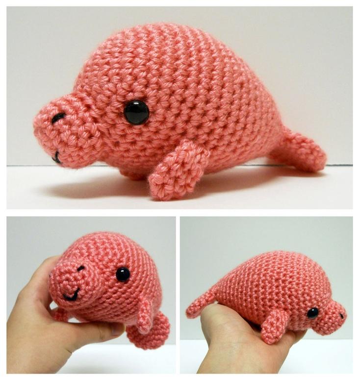 Crochet Amigurumi Manatee : Amigurumi Manatee DIY Pinterest