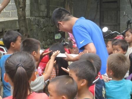 Matthew Liu traveled with us this summer. He loves kids.