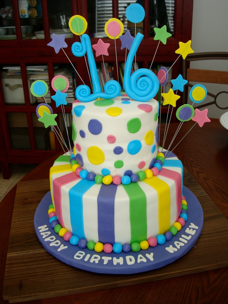 Birthday Cake Ideas With Sweets : Sweet 16 birthday cake Cakes/cookies/decorating Pinterest