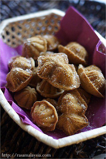 Kuih Bahulu Recipe, indonesian cakes
