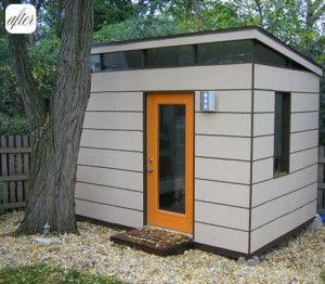 Mid century style garden shed mid century modern pinterest for Mid century modern shed