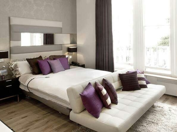bedroom grey purple bedroom pinterest