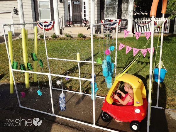 kids car wash for backyard