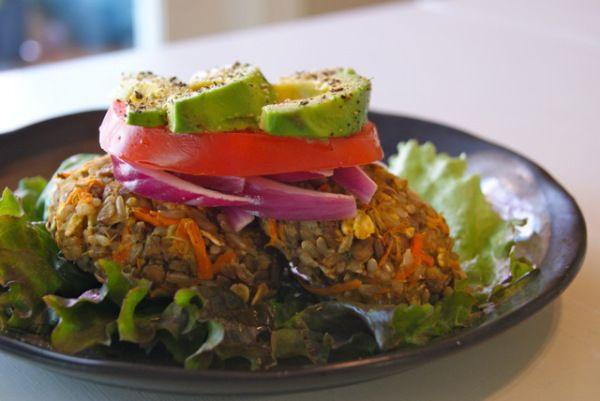 Veggie Lentil Burger | Vegan recipes | Pinterest