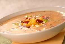 Roasted Sweet Potato Corn Chowder | Healthy Me! | Pinterest