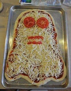 Homemade Halloween pizza!!