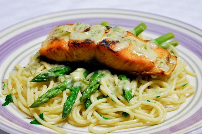 Salmon with Creamy Lemon Dill Sauce | Food | Pinterest