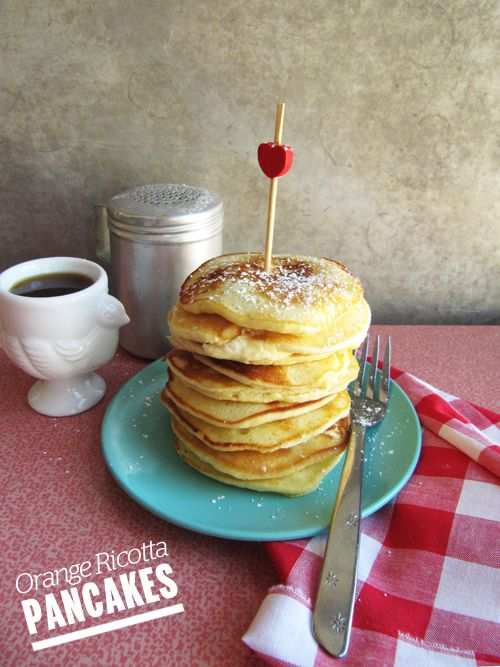 ... board just for pancakes.... Orange Ricotta Pancakes // take a megabite