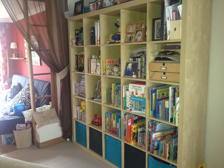 Ikea expedit system for toys and books.