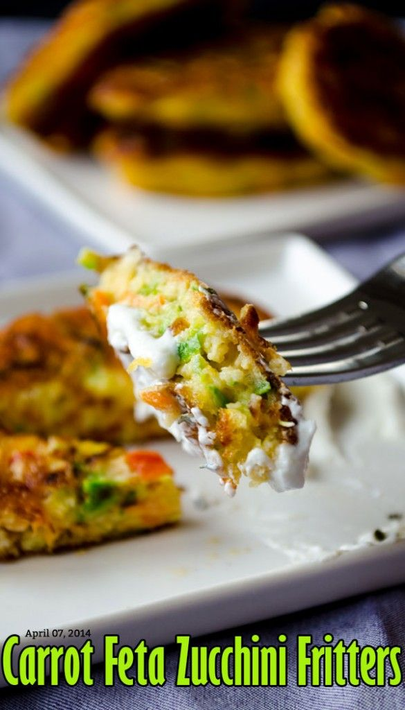 Carrot Feta Zucchini Fritters | Recipes | Pinterest