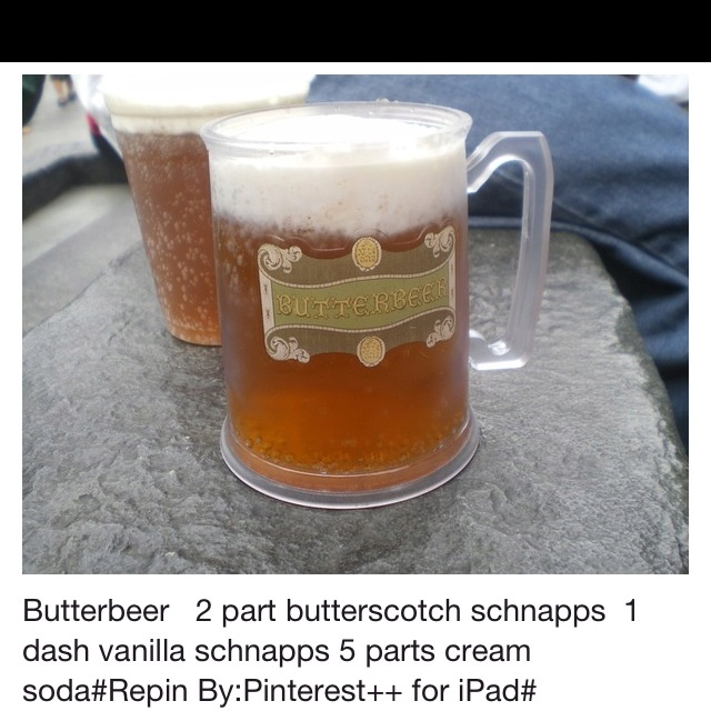 Alcohol plus butterbeer?! Yes! | food!! | Pinterest