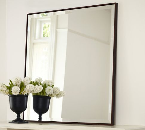 Upton mirror pottery barn mirror mirror pinterest for Big square mirror