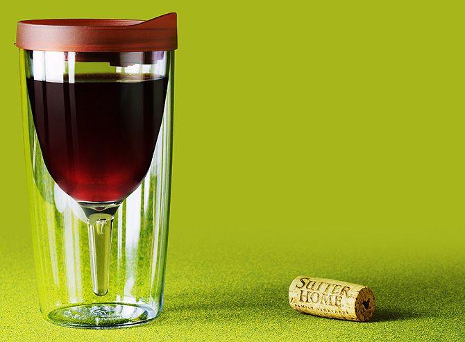 To-go wine glass..