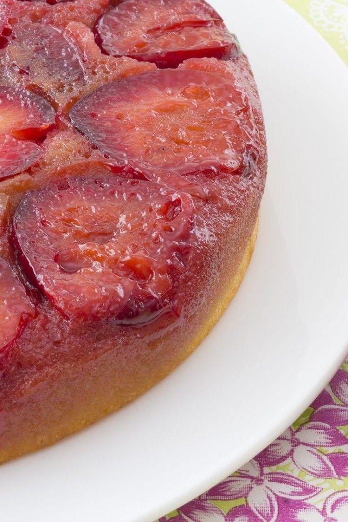 Plum Cake Tatin - butter, plums, sugar, egg, sour cream, lemon zest ...