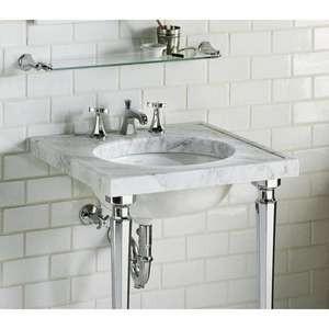 Pedestal with chrome legs main floor bathroom remodel pinterest