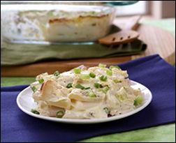 ... casserole, cheesy scalloped taters and turnips and cherry corn muffins