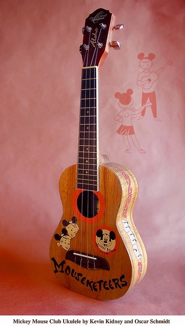 *GASP* Mickey Mouse Club 50th Anniversary Ukulele by Kevin Kidney and Oscar Schmidt.
