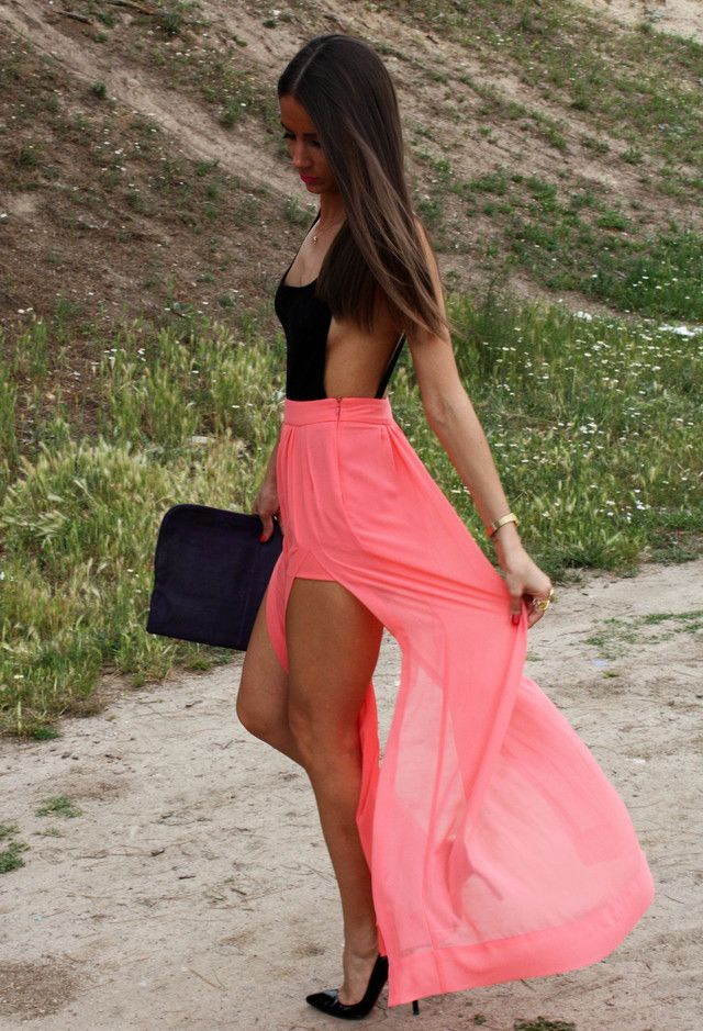 Asos  T Shirts, Zara  Skirts and Zara  Clutches
