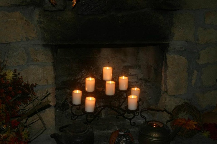 candles in fireplace fireplace ideas with candles