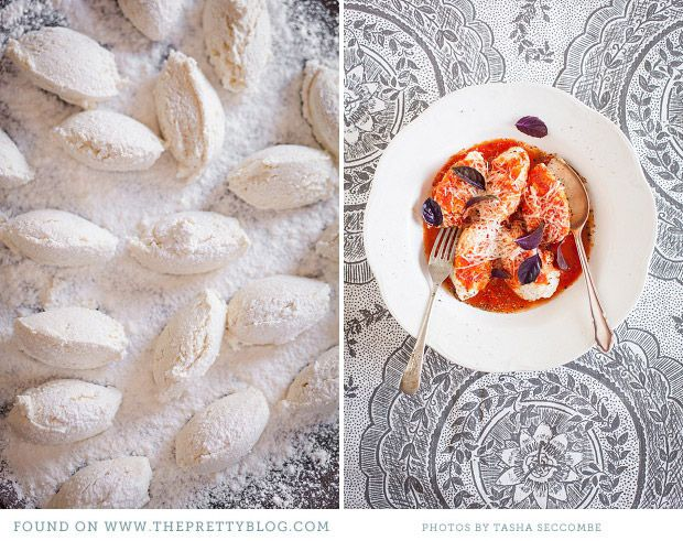 ricotta gnudi with pomodoro sauce like gnocci but larger and made with ...