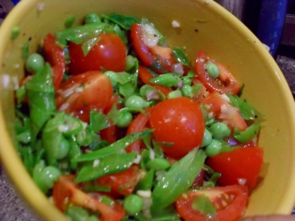 Pea and Tomato Salad | Recipes | Pinterest