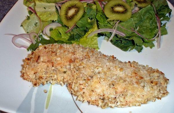 Mustard-Herb Panko Crusted Chicken Breasts Recipe — Dishmaps