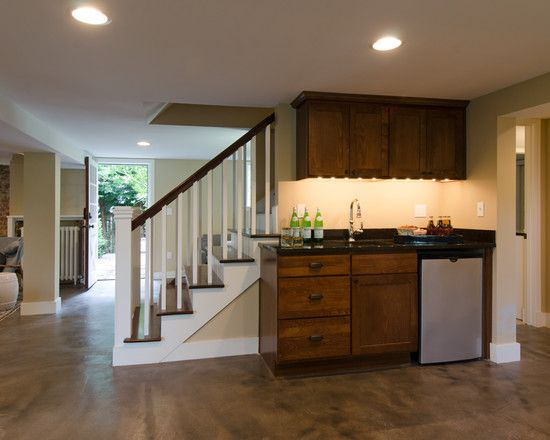 Pin by katie leusink on new house ideas pinterest for Small basement kitchen design ideas