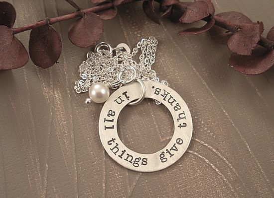 Give Thanks Necklace from Simply Been. Beautiful jewelry and a touching story.