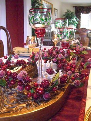 Elegant Tablescape Christmas Table Settings Pinterest