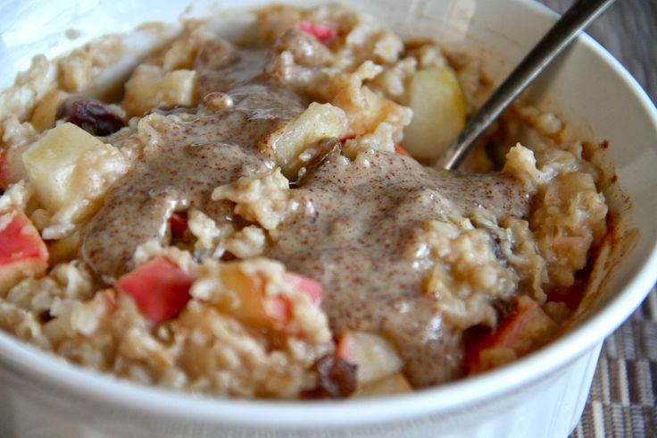 Baked Apple Cinnamon Raisin Oatmeal