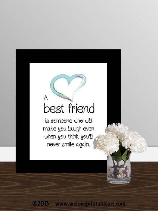 Gift for best friend quote printable art wall decor for Best quotes for wall art
