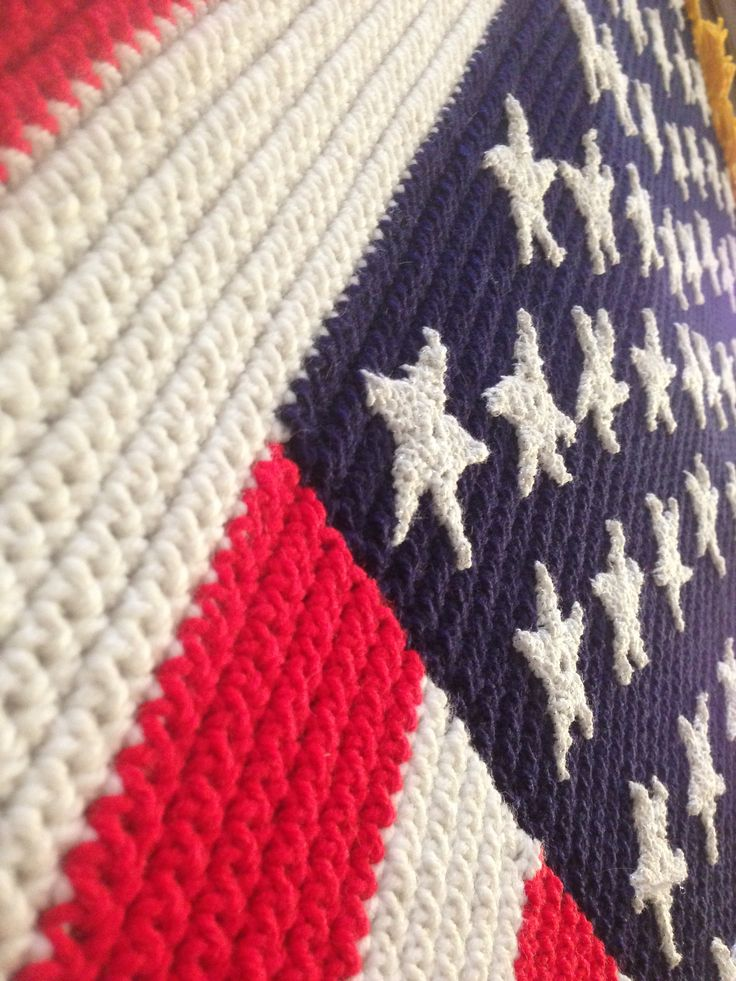 America Flag Crochet Blanket With Free Pattern American Dinocrofo