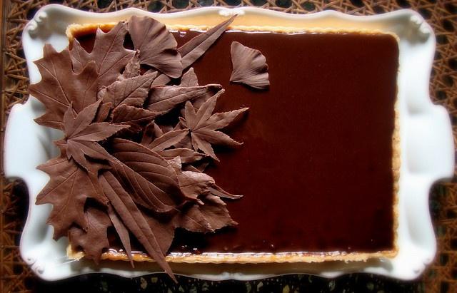 Chocolate caramel nut tart | Food & Entertaining | Pinterest
