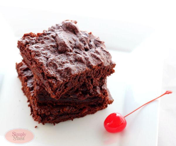 Delicious looking cherry chocolate brownies!