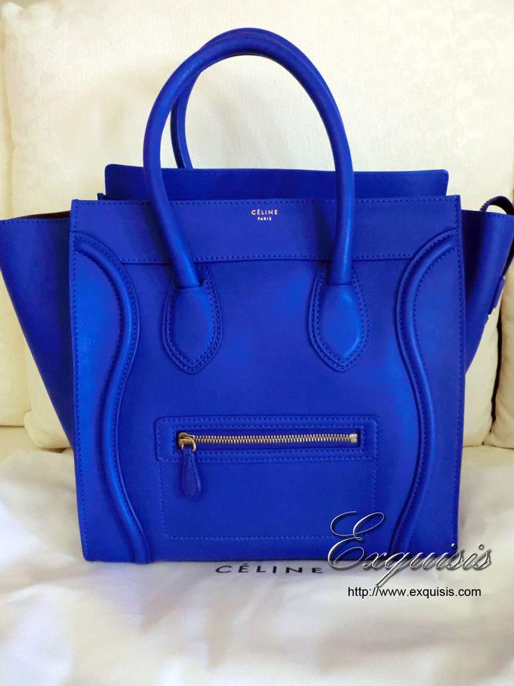 Celine Luggage Tote - Cobalt
