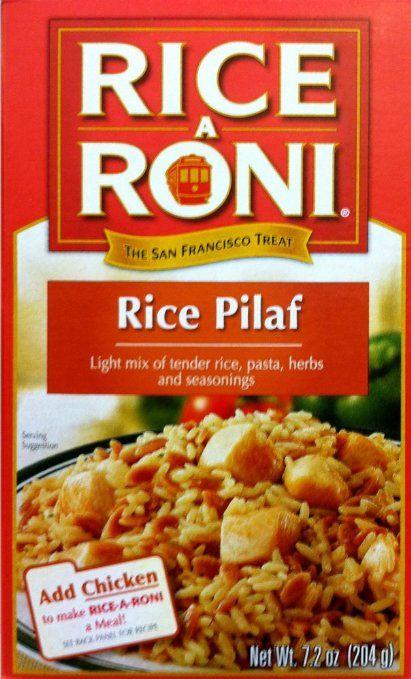 Faux Persian Rice: Rice-A-Roni RICE PILAF, saffron, raisins, pine nuts ...
