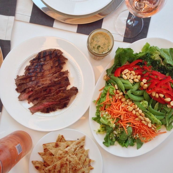 grilled thai steak salad - no recipe | Apps and Entres | Pinterest