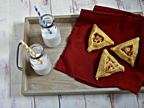 Apple Pie Hamantaschen - flakey pie crust dough with real apple pie ...