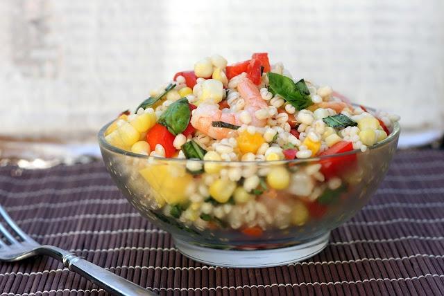 Barley Shrimp Salad | Side of Delicious | Pinterest