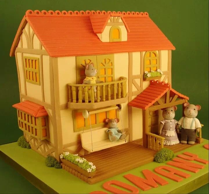 Cake With House Design : ..House Cake PRETTY CAKES !!! Pinterest