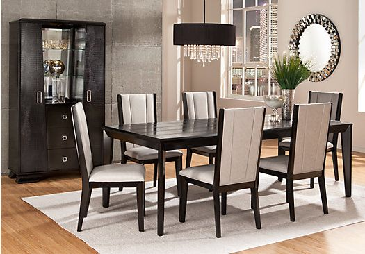 biscayne 7 pc dining room at rooms to go find dining room sets