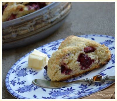 Red, White and Blue Fruit Scones | Scones | Pinterest