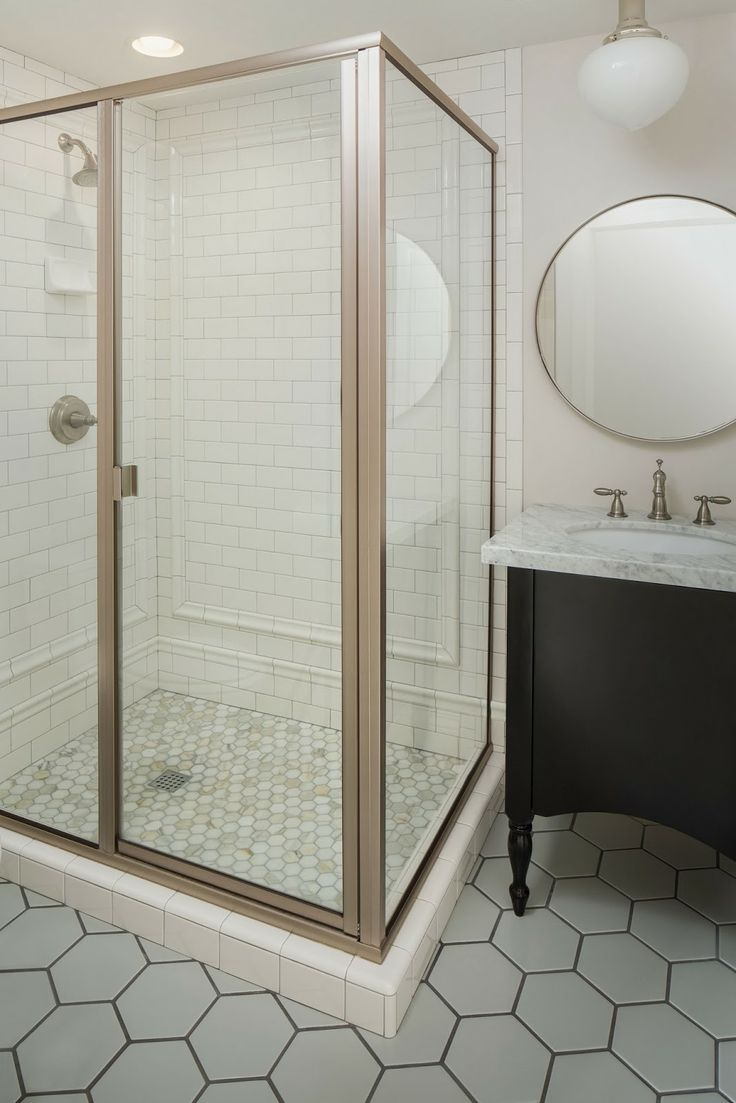 Perfect Simple Modern Brass Pendants, Round Mirrors And Rose Gold Vessel Sinks  Replace Your Subway Tile With Fish Scale Tile To Stay On Trend For More Design