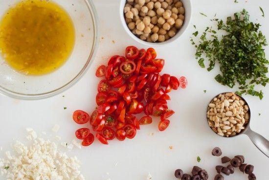 Mediterranean Raw Squash Pasta Salad | Recipe