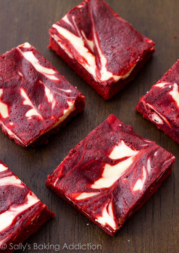 Red Velvet Cheesecake Swirl Brownies Recipe ~ only takes 30 min. to ...