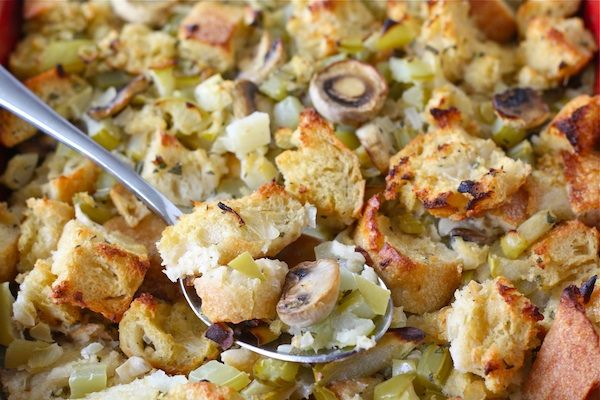 Sourdough Stuffing with Mushrooms, Apples and Sage via {Two Peas ...